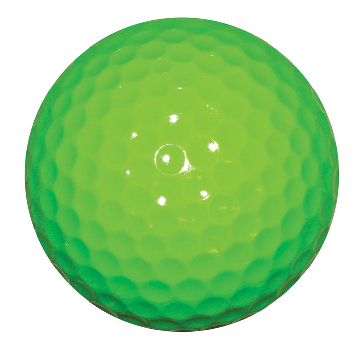 Fluorescent neon green golf ball vibrant colors