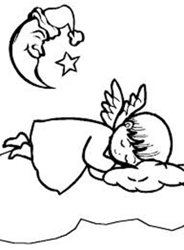 baby boy angel coloring pages - photo #26