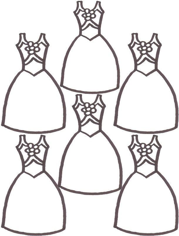 Designer Dress Coloring Pages Pictures to Pin on Pinterest  PinsDaddy