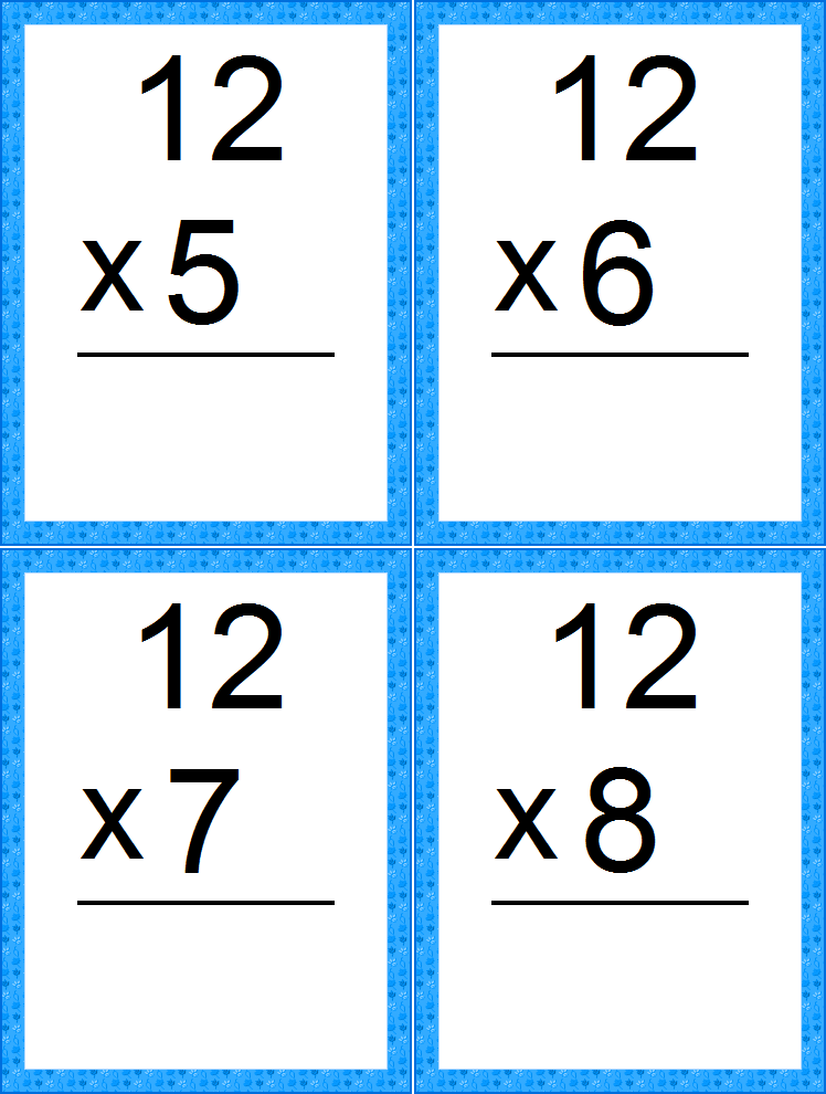graphic regarding Printable Addition Flash Cards 0-12 named Multiplication flash playing cards printable pdf