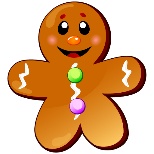 Candyland Gingerbread Man Clipart