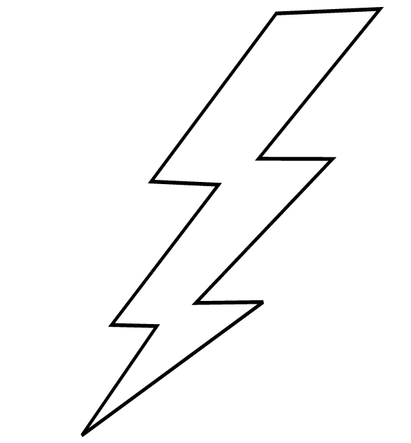Lightning Bolt Coloring Page Cliparts Co Lightning Bolt Coloring Page