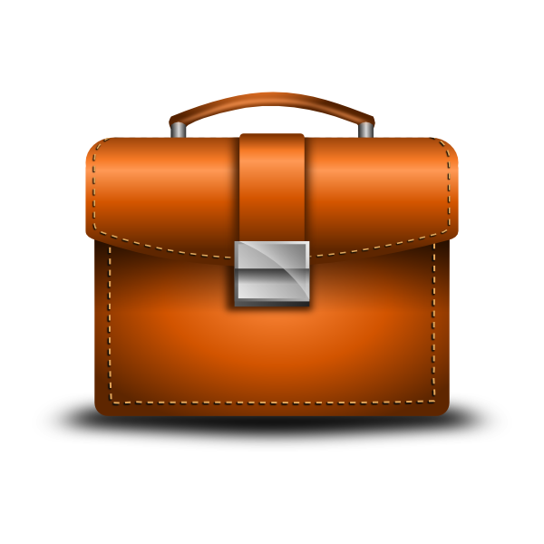Leather Briefcase clip art - vector clip art online, royalty free ...