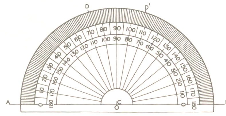 circular protractor template - printable protractor