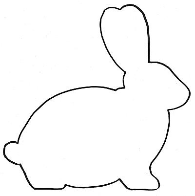 Bunny outline rabbit template animal templates free jpg clipartix.