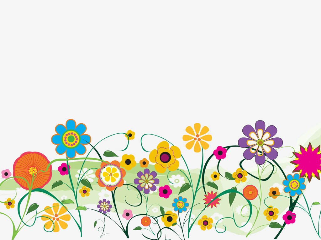 Cartoon Spring Flowers - Cliparts.co