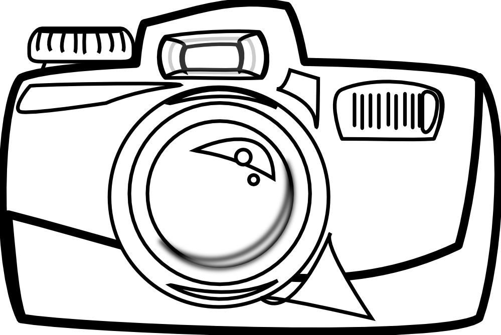 Vintage Camera Clipart Black And White | Clipart Panda - Free ...
