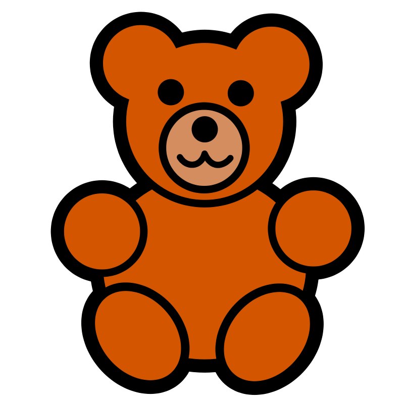 Pitr Teddy Bear Icon image - vector clip art online, royalty free ...