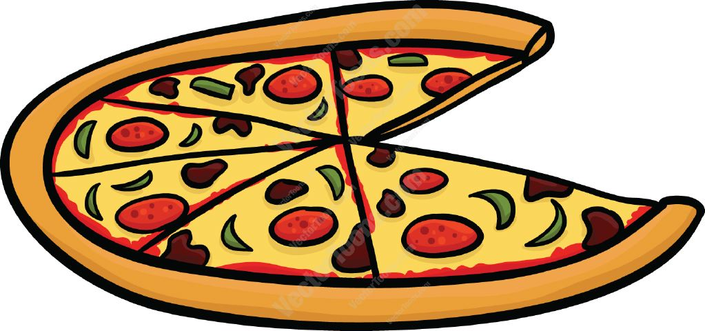 Animated Pizza Background Pizza Slice Graphic