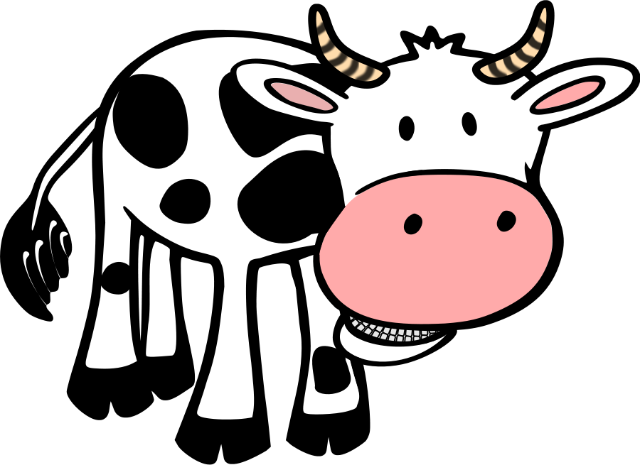 free clip art dairy cow - photo #14