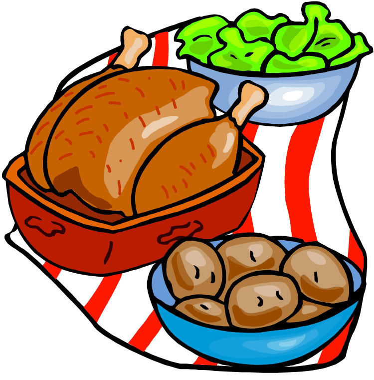 free clipart chicken dinner - photo #12