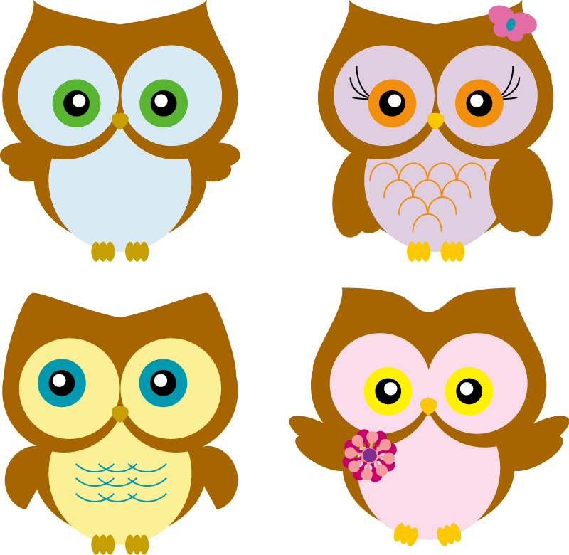 Cartoon Owl Vector Free Backgrounds Screensavers | woliper.com