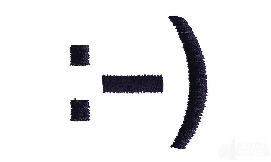 Smiling Face Embroidery Design