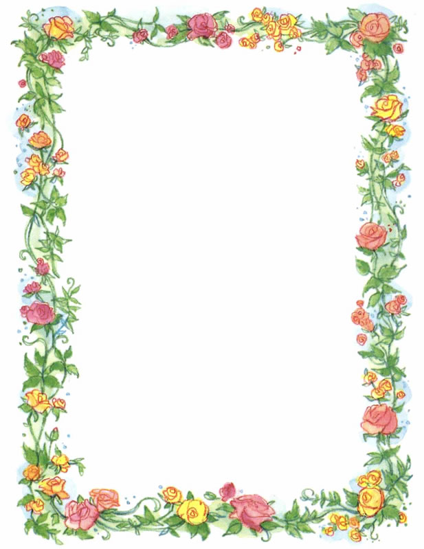 Page Border Flowers Clipartsco