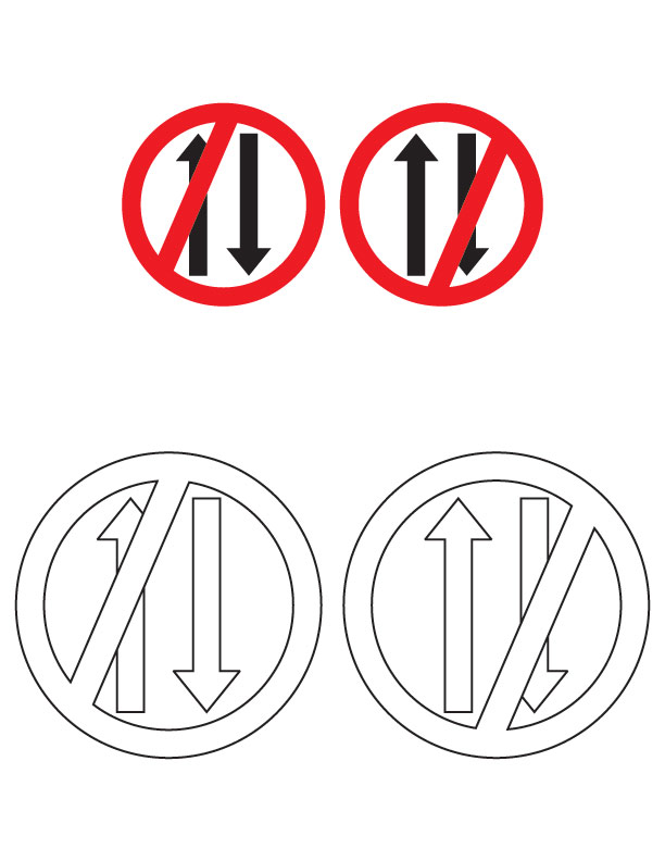 Limpertinence: Safety Signs Coloring Pages AZ Coloring Pages | 792x612