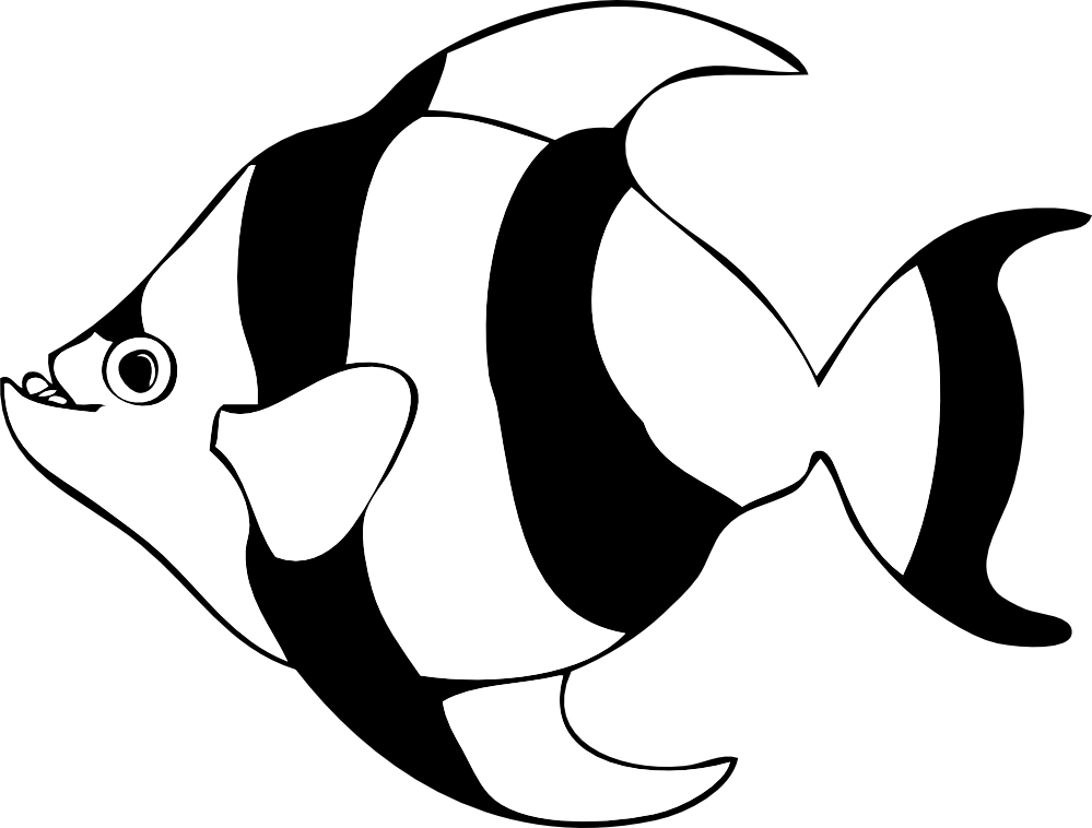 Tropical Fish Black And White Clipart | Clipart Panda - Free ...
