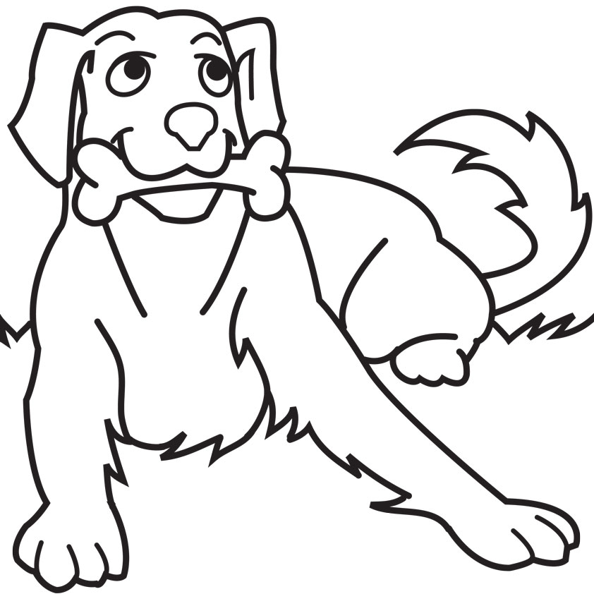Cartoon Dog Coloring Pages – 842×842 Coloring picture animal and ...
