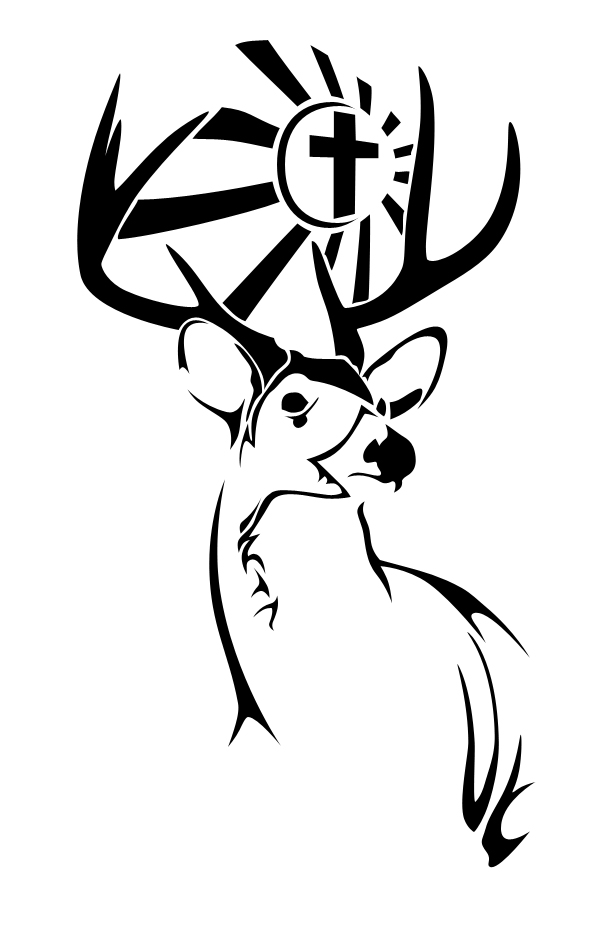 tribal deer head tattoos clipartsco