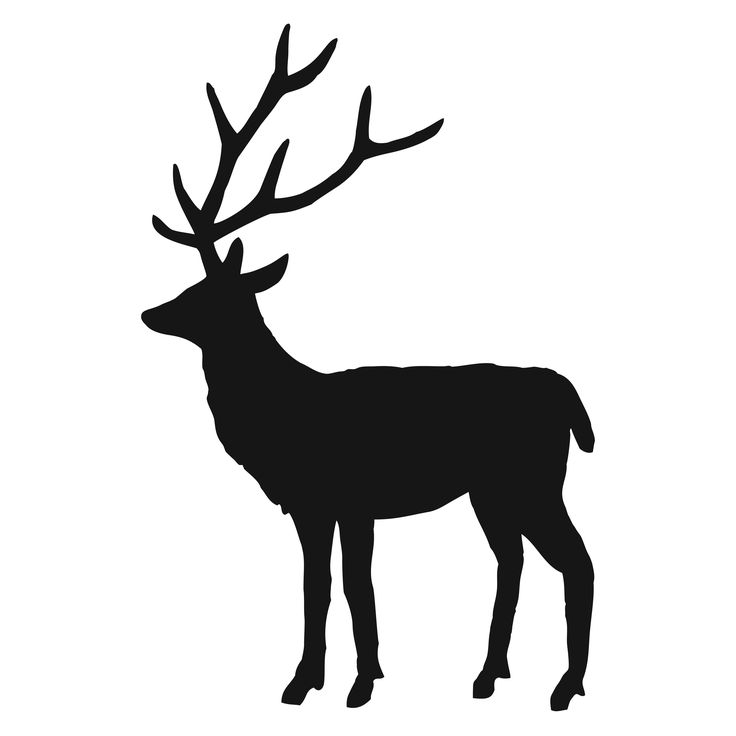 Stag silhouette | crafts | Pinterest