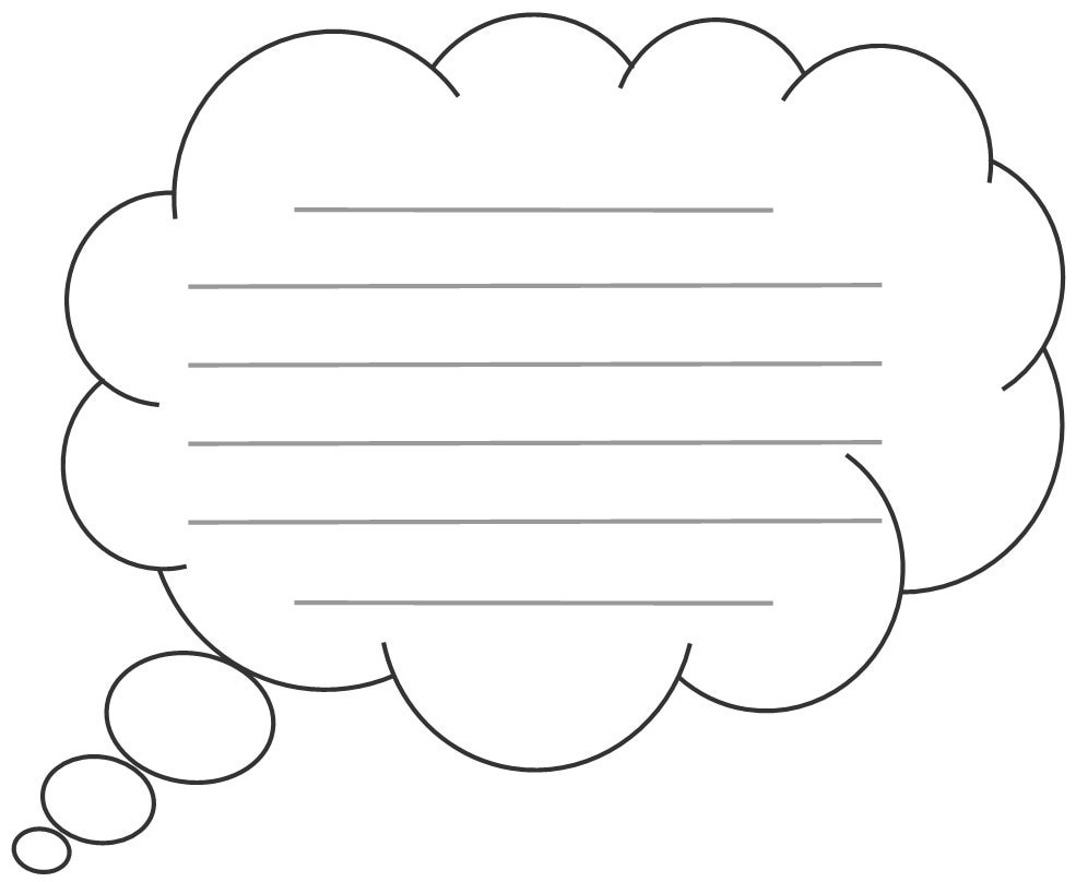 Breathtaking image in speech bubble printable