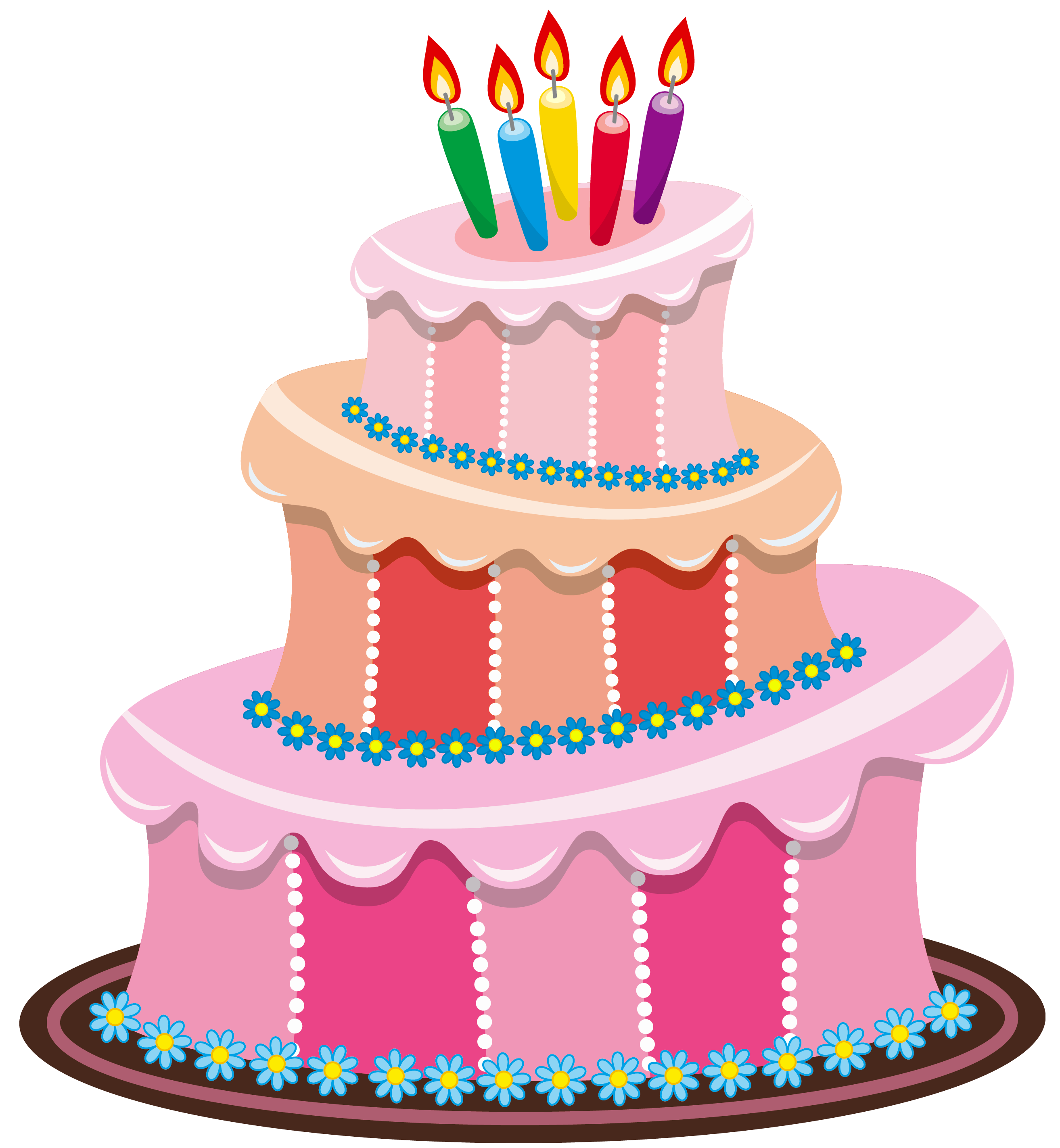 Pink Birthday Cake PNG Clipart - Cliparts.co