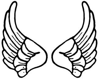 Small Angel Wings Clipart