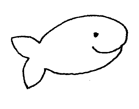 Goldfish Clip Art Black And White Simple Fish Clip Art