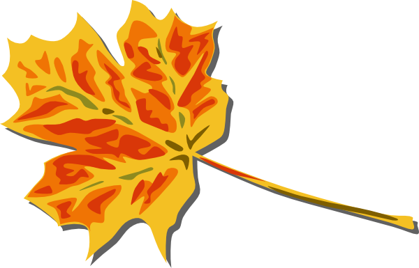 Fall Coloured Leaf clip art - vector clip art online, royalty free ...