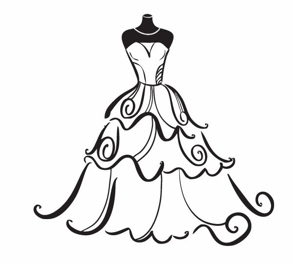 Wedding Gown Clip Art: Clipart Dress