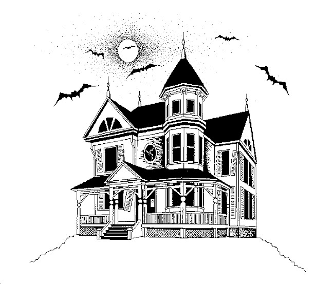 Haunted house cartoon pictures Haunted house drawing ideas