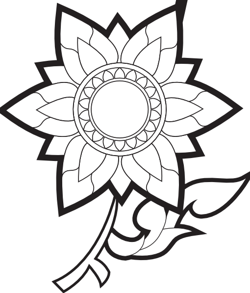 Drawings Of Flowers In Black And White Black and white flowers