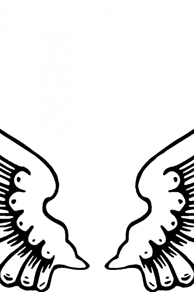 free angel wings coloring pages - photo#24