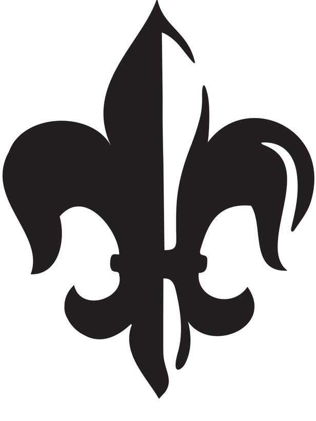 photograph about Fleur De Lis Printable identified as Printable Fleur De Lis Stencil -