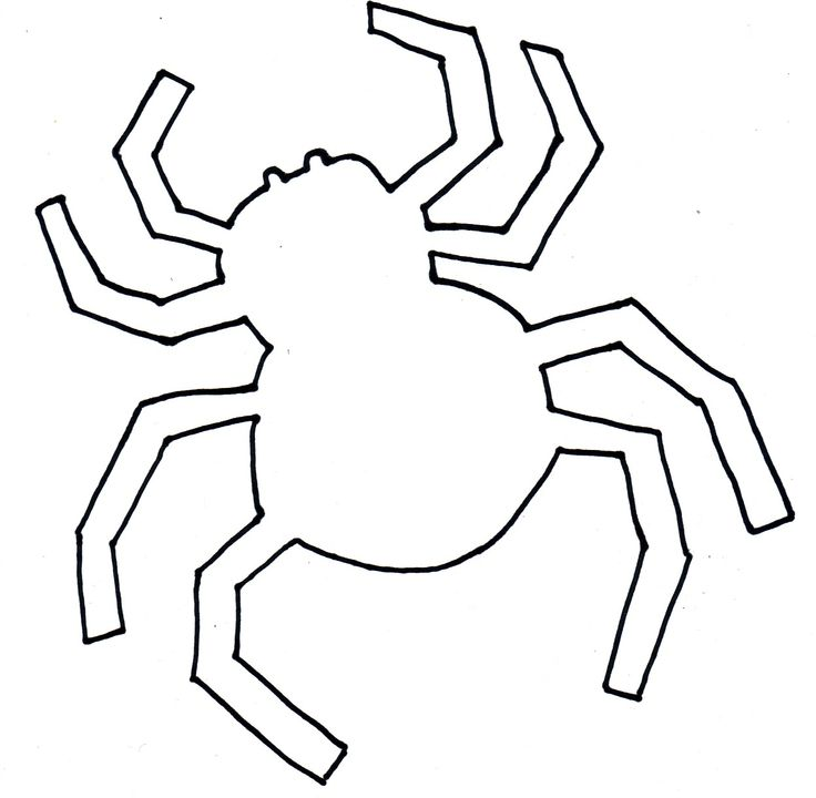 It's just a picture of Smart Spider Template Printable