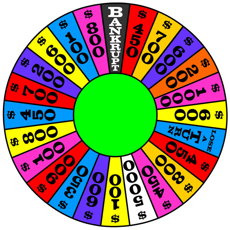 Blank Spinning Wheel Template Cliparts