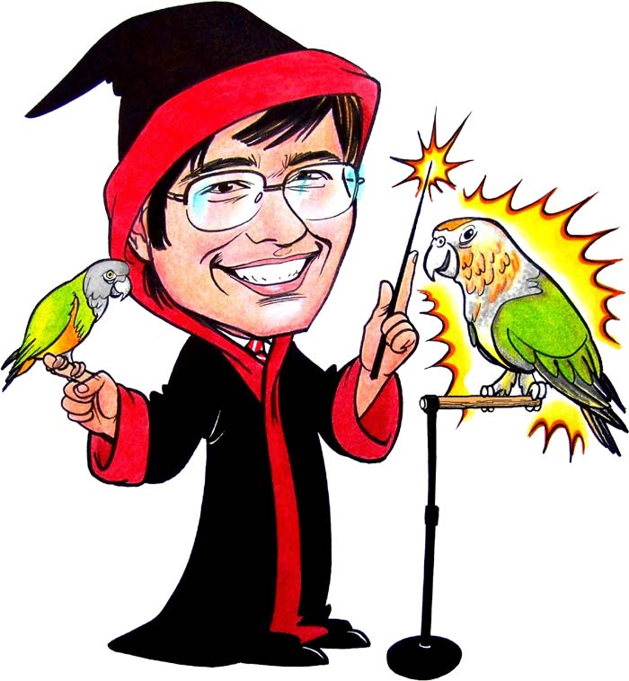 Trained Parrot Blog - Parrot Cartoon Graphics and Movie Trailer
