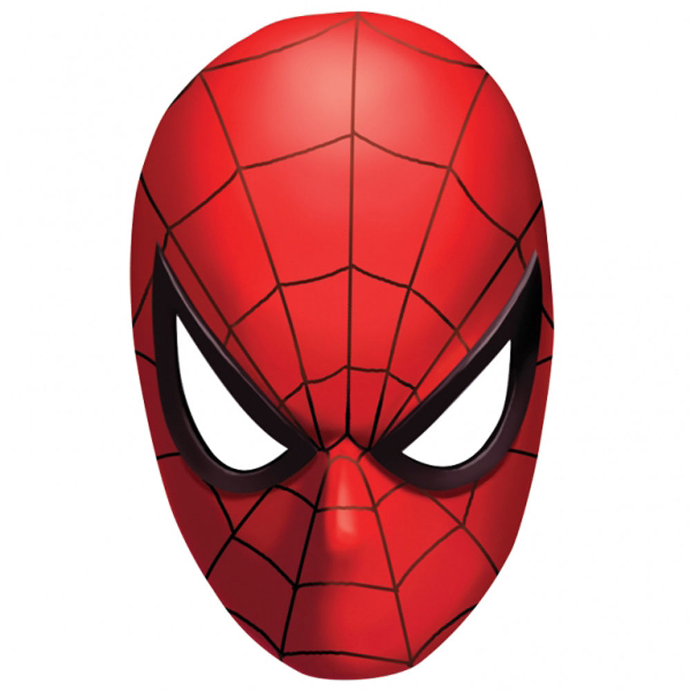 Spiderman Face Template - Cliparts.co