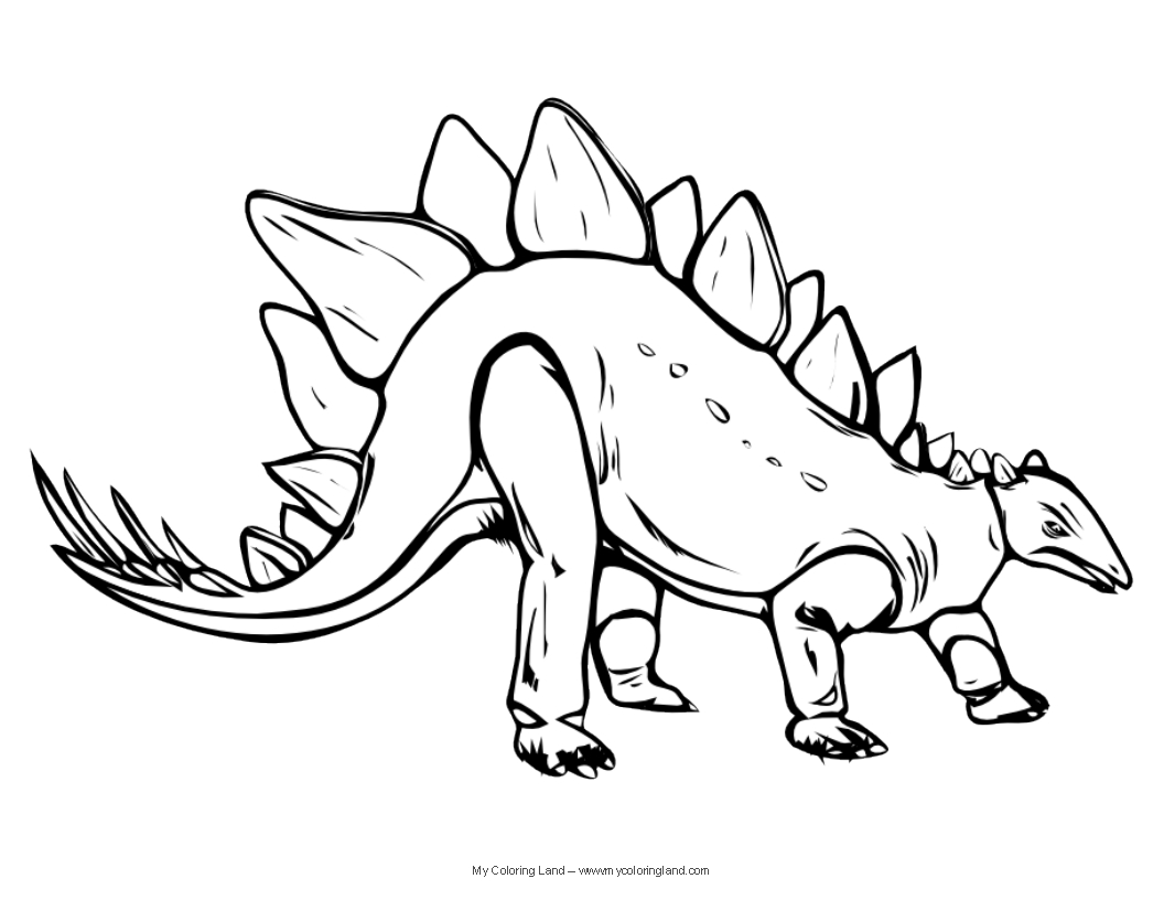 Dinosaur outline coloring pages