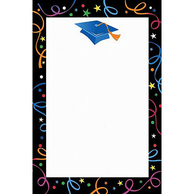 Graduation Cap Border on High School Graduation Invitations Printable