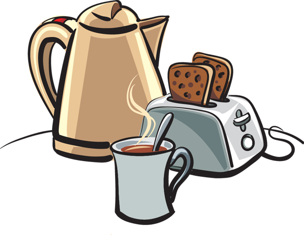 Image result for men eating toast & coffee