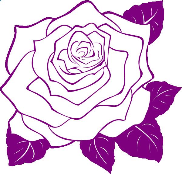 Rose outline vector image - Rose Outline Clip Art Cliparts Co