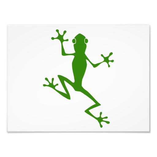 Climbing Green Frog Silhouette Photographic Print | Zazzle