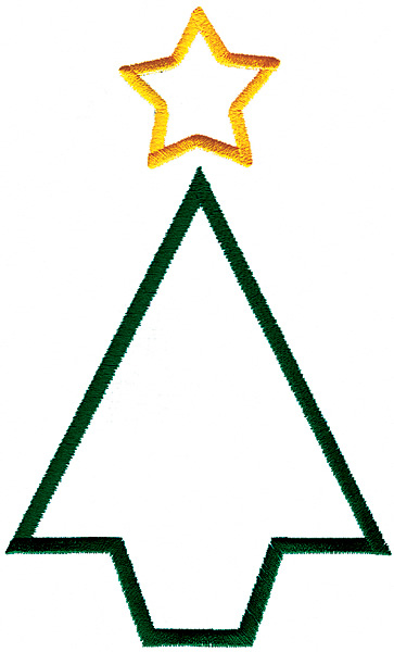Christmas Tree Outline - ClipArt Best