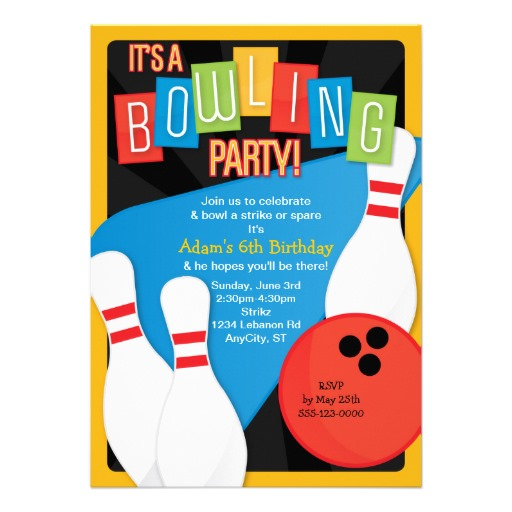 Bowling Birthday Party Invitations Free Templates as beautiful invitations layout