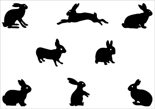 clipart image bunny silhouette - photo #37