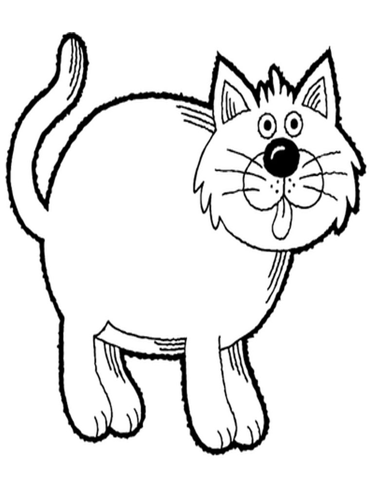 Outline Of Cat - Cliparts.co