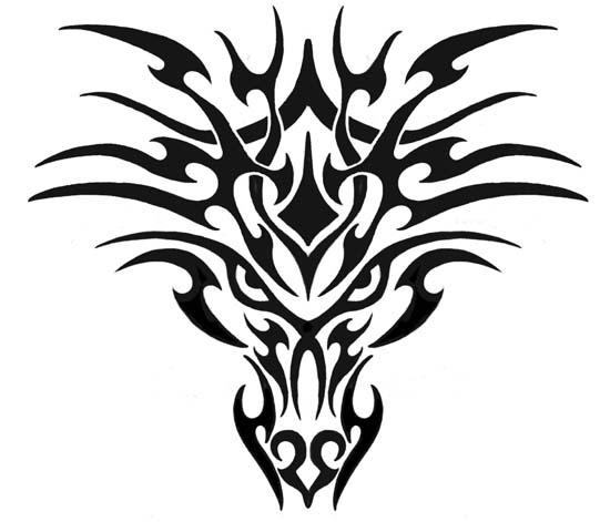 Tattoo flash dragon tribal 50 Amazing