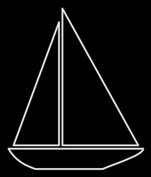Boat Outline Clip Art at Clker.com - vector clip art online ...