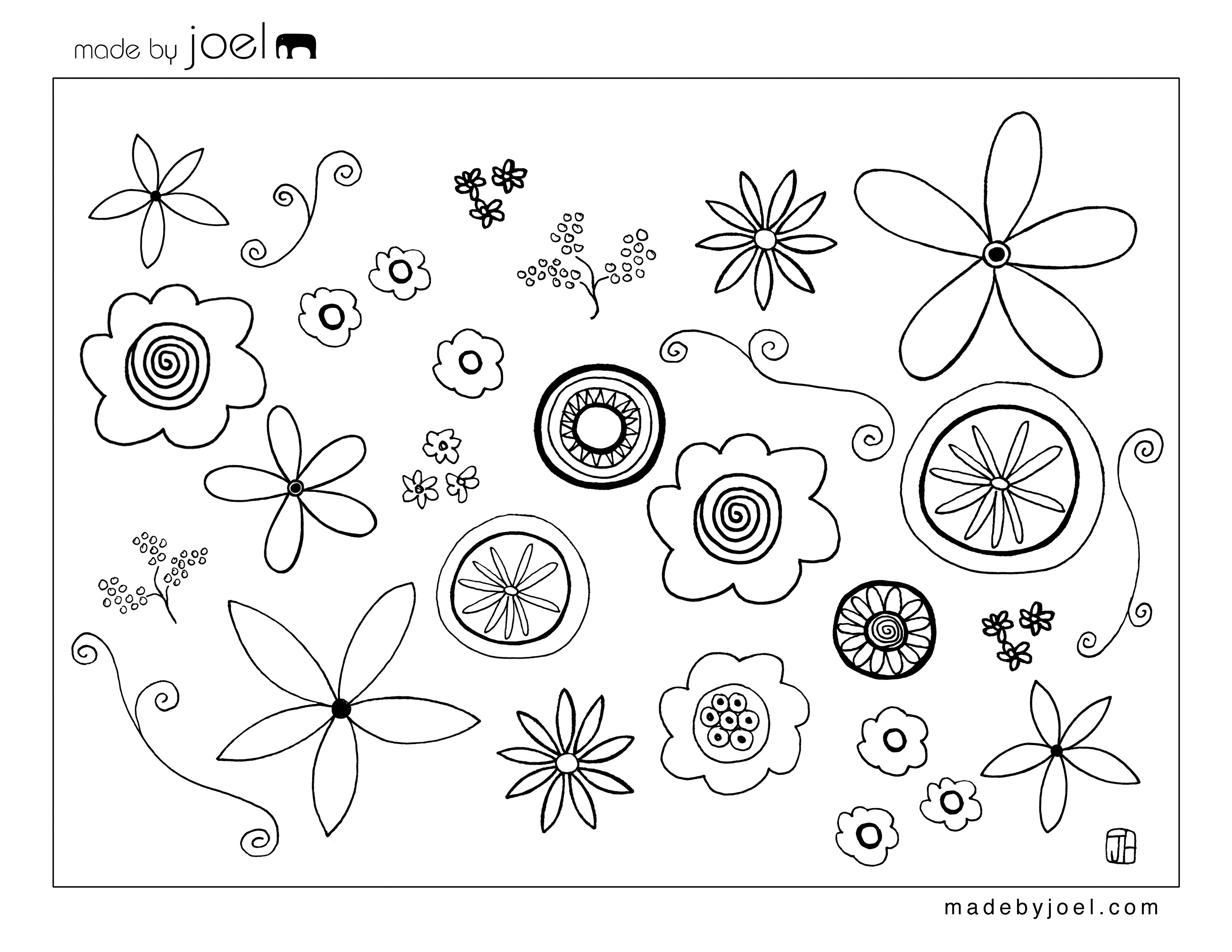 flower template to colour cliparts co
