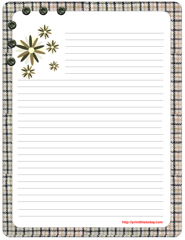 Sweet image with regard to free printable stationary borders